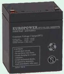 Ever Europower akumulator 12V/5Ah T2 (6,35mm) (T/AK-12005/0005)