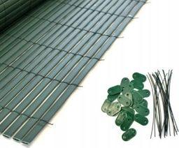 Mocowanie maty pvc bambusowej uchwyty zielone
