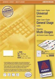 Avery Zweckform Etykiety 38x21,2mm - (3666)