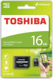 Karta MicroSD Toshiba 16GB (THN-M102K0160M2)
