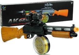 Import leantoys Pistolet Broń Karabin AK 868-1 Świeci Gra
