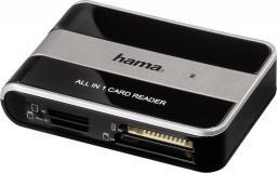 Czytnik Hama USB 2.0 CF MD SD SDHC MMC M2 Micro SD MS MS Pro XD 480 Mbit/s (00049016)