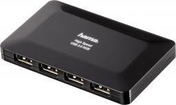 HUB USB Hama USB 2.0 Hub 1:4 with Power Supply (00078472)