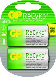 GP Battery 1x2 ReCyko+ Mono D NimH (125570DHBC2)