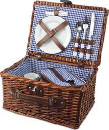 Kosz piknikowy leśne wspomnienie, niebieski KWL
