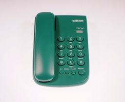 Telefon przewodowy Mescomp Leon zielony