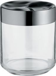 Alessi Pojemnik hermetyczny Julieta szklany z stalową pokrywką średni (LC08)