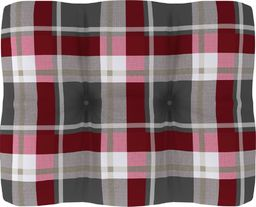 vidaXL Poduszka na sofę z palet, czerwona krata, 50x40x12 cm (314436)