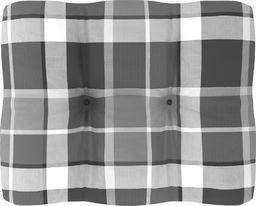 vidaXL Poduszka na sofę z palet, szara krata, 50x40x12 cm (314437)