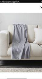Ikea VITMOSSA Pled, szary120x160 cm