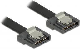 Delock Przewód SATA FLEXI 6 Gb/s o dł. 30 cm, czarny, metalowe zaciski 83840
