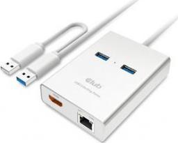 Stacja/replikator Club 3D Adapter USB 3.0 Typ A > HDMI + 2x USB 3.0 i RJ45 (CSV-2600)
