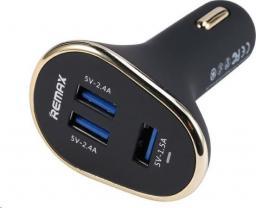 Ładowarka Remax adapter 3x USB, 6.3A, czarny AA-1052