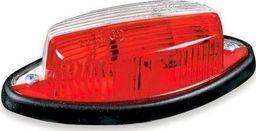 FRISTOM Lampa obrysowa biało-czerwona z przewodem 2x0,75 mm