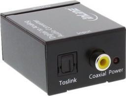 Adapter AV InLine Cyfrowy Konwerter Audio Toslink do 2x RCA (65002)
