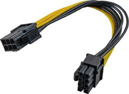 Akyga PCI Express 6 pin F do 8 pin M - AK-CA-07
