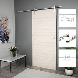 vidaXL System do mocowania drzwi przesuwnych, 183 cm, stal, srebrny