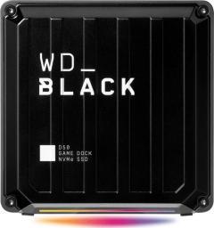 Dysk zewnętrzny WD SSD WD_BLACK D50 Game Dock 2 TB Czarny (WDBA3U0020BBK-EESN)