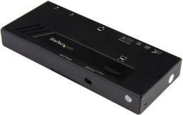 Adapter AV StarTech 2-Porowy Automatyczny Switch Video (VS221HD4KA)