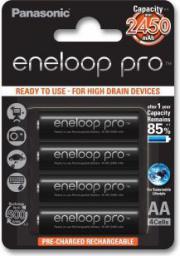Panasonic Eneloop Pro AA, 2450mAh, 4 sztuki (001540180000)