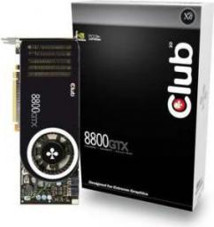 Karta graficzna Club 3D GeForce 8800 8800GTX 768MB 384BIT DDR3