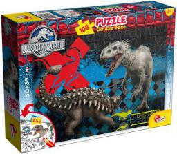 Lisciani Puzzle Do kolorowania Dwustronne Jurassic World 108 elementów (304-48632)