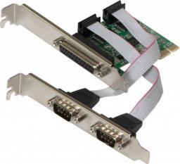 Kontroler Evolveo PCIe x1 - 2x RS-232 + 1x LPT (KAE-RS232-LPT)