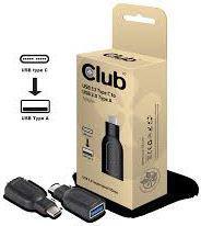 Adapter USB Club 3D USB C - USB A Czarny (CAA-1521)