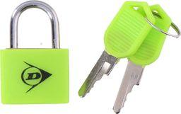 Dunlop Zestaw mini kłódek bagażowych z kluczykiem zielony