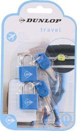 Dunlop Zestaw mini kłódek bagażowych z kluczykiem
