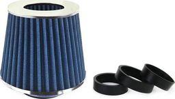 AMiO Filtr stożkowy powietrza AMIO (zaimpregnowany, niebieski, 3 adaptery)
