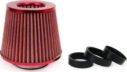 AMiO Filtr stożkowy powietrza AMIO (zaimpregnowany, czerwony, 3 adaptery)
