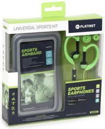 Platinet słuchawki IN-EAR SPORT + ARMBAND PM1070 GREEN (42928)