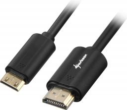 Kabel Sharkoon HDMI Mini HDMI, 2, Czarny (4044951018000)