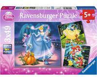 Ravensburger Puzzle 3x49 - Księżniczki Disneya (093397)
