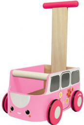 Plan Toys Drewniany chodzik różowy van - PLTO-5185