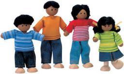Plan Toys Rodzina ciemnoskórych lalek (PLTO-7416)