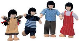 Plan Toys Rodzina skośnookich lalek (PLTO-7417)