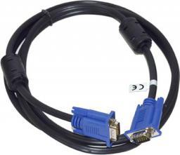 Kabel Vakoss D-Sub (VGA) - D-Sub (VGA), 2, Czarny (TC-D766K)