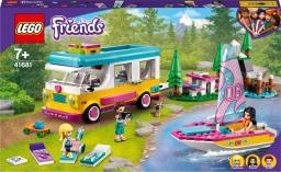 LEGO Friends Leśny mikrobus kempingowy i żaglówka (41681)