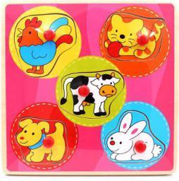 Brimarex Drewno Puzzle Zwierzęta 1564566