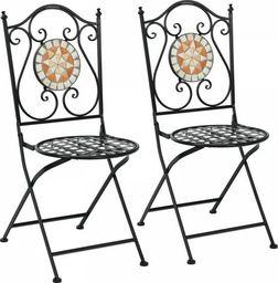 Costway Metalowe krzesła ogrodowe z mozaiką (HW66910)
