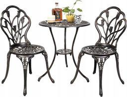 Costway Meble ogrodowe żeliwne stół i krzesła (HW49512)