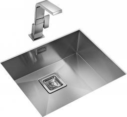 Teka Zlewozmywak 1-komorowy Square bez ociekacza 53 x 43cm stalowy (40170130)