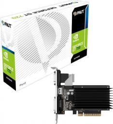 Karta graficzna Palit GeForce GT 710 2GB DDR3 (64 bit) DVI, HDMI, D-Sub, BOX (NEAT7100HD46H)