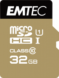 Karta Emtec Elite Gold MicroSDXC 32 GB Class 10 UHS-I/U1  (ECMSDM32GHC10GP)