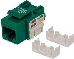 Intellinet Network Solutions Moduł keystone CAT.5e, UTP, RJ45, Zaciskany, Zielony (210997)