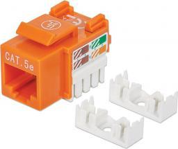 Intellinet Network Solutions Moduł keystone Cat.5e, UTP, RJ45, zaciskany, pomarańczowy (210577)
