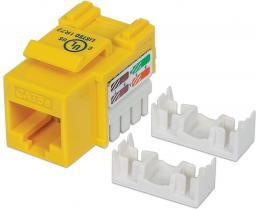 Intellinet Network Solutions Moduł keystone Cat.5e, UTP, RJ45, zaciskany, żółty (210133)