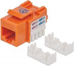 Intellinet Network Solutions Moduł Keystone CAT.6, UTP, RJ45, zaciskany, pomarańczowy (210775)